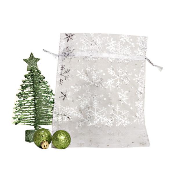 Large Snowflake Organza Bag