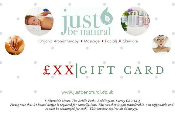 Just Be Natural Gift Card example