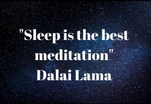 Sleep quote from Dalai Lama