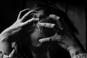 Stressed Woman B&W